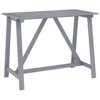vidaXL Mesa de bar para jardim 140x70x104 cm acácia maciça cinzento