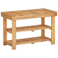 vidaXL Sapateira 70x32x46 cm madeira de acácia maciça