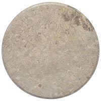 vidaXL Tampo de mesa Ø60x2,5 cm mármore cinzento
