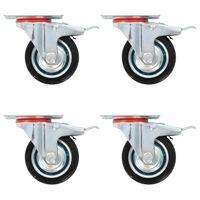 vidaXL 32 pcs rodas giratórias 75 mm