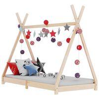 vidaXL Estrutura de cama p/ crianças 70x140 cm madeira de pinho maciça