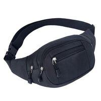 Bolsa de cintura com vários compartimentos - Preto