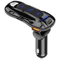 Transmissor FM e carregador rápido, bluetooth - preto