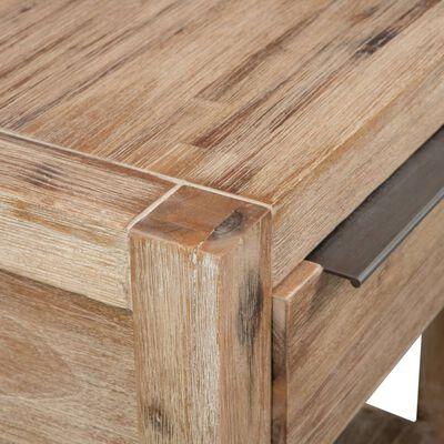 vidaXL Mesa-de-cabeceira c/ gaveta 40x30x48 cm madeira acácia maciça