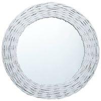 vidaXL Espelho 80 cm vime branco