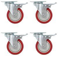 vidaXL 12 pcs rodas giratórias 100 mm