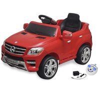 Carro eléctrico Mercedes Benz ML350 vermelho 6V com controlo remoto