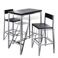Mesa de bar alta com 2 cadeiras para pequeno almoço