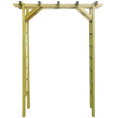 vidaXL Pérgola 150x50x200 cm madeira impregnada