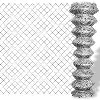vidaXL Cerca de arame 15x1 m aço galvanizado prateado