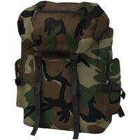 vidaXL Mochila estilo camuflagem do exército 65 L