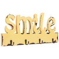 vidaXL Cabide de parede SMILE 50x23 cm