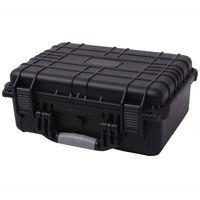 vidaXL Caixa de equipamento protetora 40,6x33x17,4 cm preto