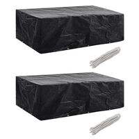 vidaXL Conjunto capas p/ mobiliário jardim 2 pcs 10 ilhós 300x140 cm