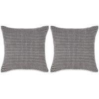 vidaXL Conjunto de 2 almofadas em veludo 60x60 cm cinzento
