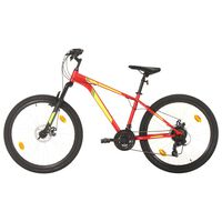 vidaXL Mountain Bike 21 Speed 27,5 inch Wheel 38 cm Red (92343+92349)