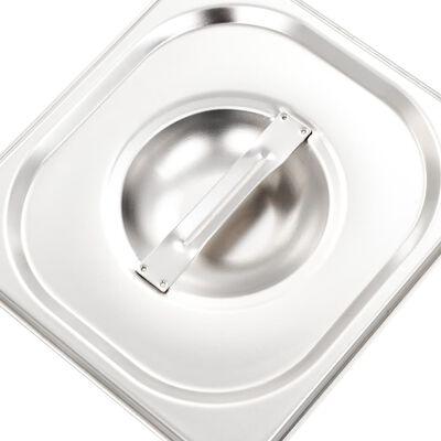 Tampas para recipientes comida GN 1/6 8 pcs aço inoxidável