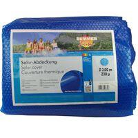 Summer Fun Cobertura solar de piscina redonda 300 cm PE azul