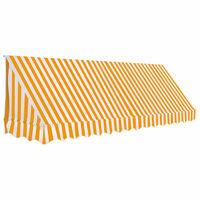 vidaXL Toldo bistrô 350x120 cm laranja e branco