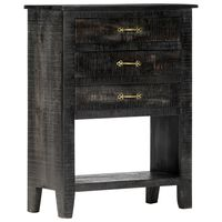 vidaXL Armário lateral 60x30x80 cm madeira de mangueira maciça