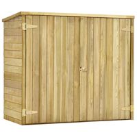 vidaXL Abrigo p/ ferramentas de jardim 135x60x123 cm pinho impregnado