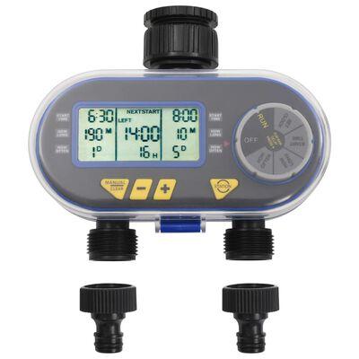 vidaXL Temporizador de rega automático digital com saída dupla