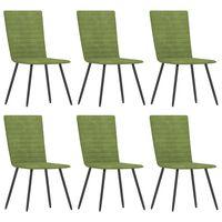 vidaXL Cadeiras de jantar 6 pcs veludo verde
