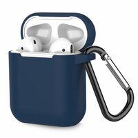 Caixa Para Airpods De Silicone À Prova De Choque Extra Azul Escuro