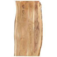 vidaXL Tampo de mesa 120x(50-60)x2,5 cm madeira de acácia maciça