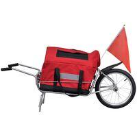 Reboque de carga para bicicleta com bagagem