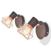 vidaXL Candeeiros de parede 2 pcs c/ 2 lâmpadas filamentos LED 8 W