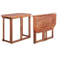 vidaXL Mesa de bistrô 90x50x75 cm madeira de acácia maciça