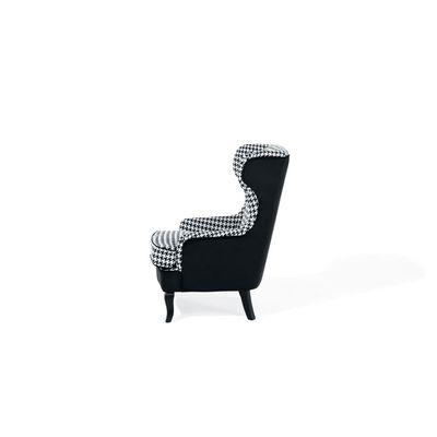 Poltrona preta e branca estilo chesterfield - Poliéster - MOLDE