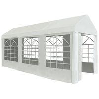 vidaXL Tenda para festas PE 2x5 m branco