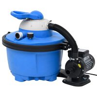 vidaXL Bomba filtro de areia 385x620x432 mm 200 W 25 L azul e preta