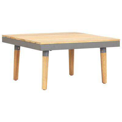 vidaXL Mesa de centro p/ jardim 60x60x31,5 cm madeira de acácia maciça