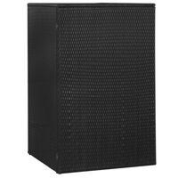 vidaXL Unidade arrumação caixote do lixo 76x78x120 cm vime PE preto