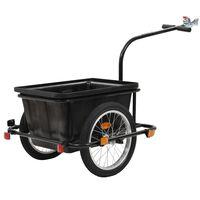 vidaXL Reboque de carga para bicicleta preto 50 L