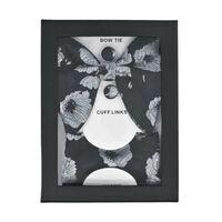 Conjunto de 3 peças com gravata borboleta, lenço e botões de punho - p