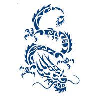 "Song Tattoo ""dragon"" Blue"