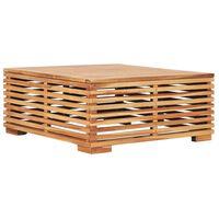 vidaXL Mesa de jardim 69,5x69,5x31 cm madeira de teca maciça