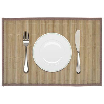 Individuais de mesa em bambu 6 pcs 30 x 45 cm castanho