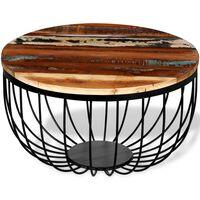 vidaXL Mesa de centro em madeira reciclada maciça