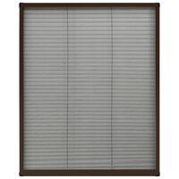 vidaXL Tela anti-insetos plissada p/ janela 80x100cm alumínio castanho