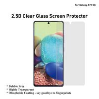 Protetor de tela para 2 pacotes de vidro temperado Samsung Galaxy A71