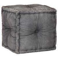vidaXL Pufe em lona de algodão 40x40x40 cm antracite