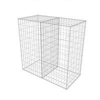 vidaXL Cesto gabião aço galvanizado 100x50x100 cm