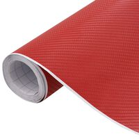 vidaXL Película para carro 4D 500x152 cm vermelho fosco
