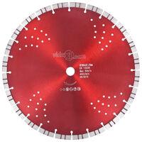 vidaXL Disco de corte de diamante com turbo e orifícios aço 350 mm
