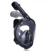 Máscara de snorkel com suporte para câmera - preto - S / M